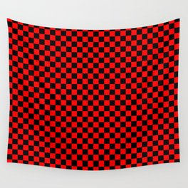 schwarz rot kariert Wall Tapestry