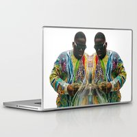 biggie smalls Laptop & iPad Skins featuring Biggie Smalls by IFEELFREEDXM