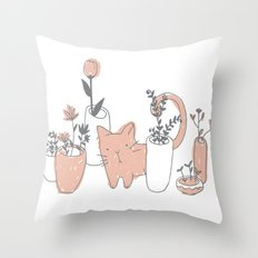 Fatty cat Throw Pillow