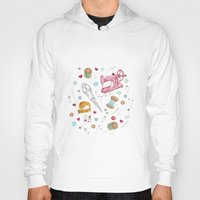 sewing Hoodies featuring Sewing by Epoque Graphics