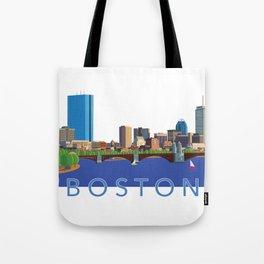 Back Bay Boston Skyline Tote Bag