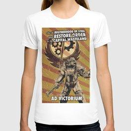 Fallout 3 - Brotherhood of Steel recruitment flyer T-shirt
