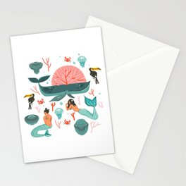 Mermaids summer Stationery Cards