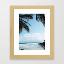 Lazy Afternoons in Tulum, Mexico Framed Art Print