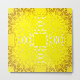 Yellow Color Burst Metal Print