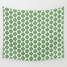 Hearts Clover Pattern Wall Tapestry