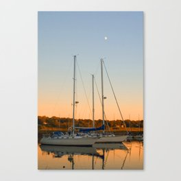 Sunset in Southport 2 Canvas Print