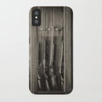 guns iPhone & iPod Cases featuring Guns by Aaron MacDougall