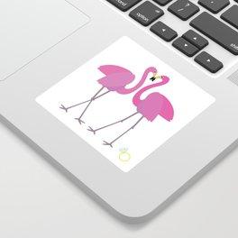 Flamingos in love Sticker