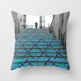 Mystery Man on the Blue Stairway to Heaven, Kansas City Throw Pillow