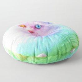 Unicorn Rainbow Cat Floor Pillow