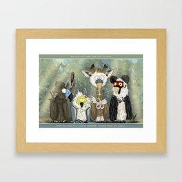 Vultures undercover Framed Art Print