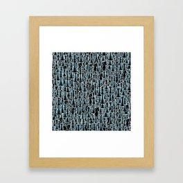 Chess Pattern II BLACK Framed Art Print
