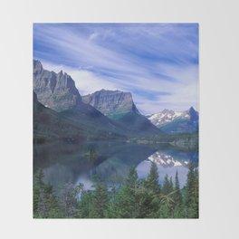Montana Mountains Throw Blanket