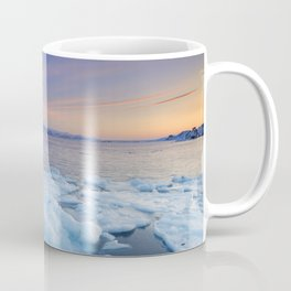 Ice floes at sunset, Arctic Ocean, Porsangerfjord, Norway Coffee Mug