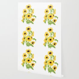 yellow sunflower watercolor painting 2021 Wallpaper