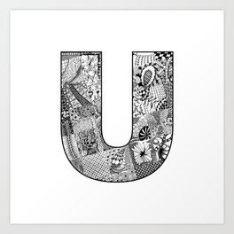 Cutout Letter U Art Print