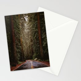 Avenue of the Giants, The Redwoods California  Stationery Cards