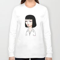 mia wallace Long Sleeve T-shirts featuring Mia Wallace by Pendientera
