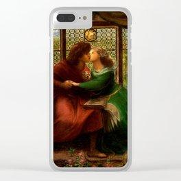 "Dante Gabriel Rossetti ""Paolo and Francesca da Rimini"" Clear iPhone Case"