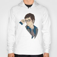 dr who Hoodies featuring Dr Who David Tennant by Hungry Designs