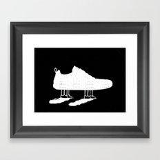 The walking shoe Framed Art Print