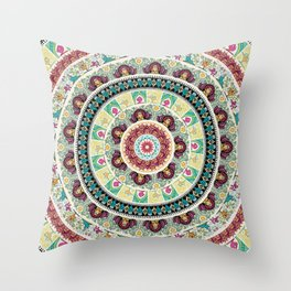 Sloth Yoga Medallion Throw Pillow