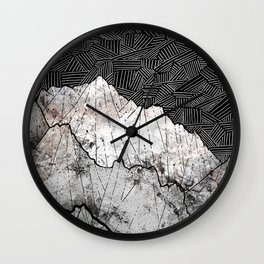 The rocky crosshatch mountains Wall Clock