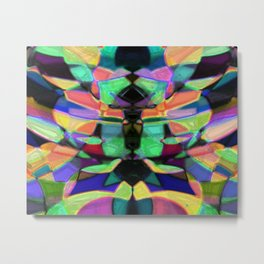 Drinkin Whiskey and Rye: Colorful Digital Abstract Design Metal Print