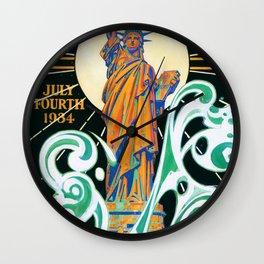 Joseph Christian Leyendecker - Statue Of Liberty - Digital Remastered Edition Wall Clock