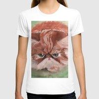 persian T-shirts featuring Grumpy Persian by Artist Amanda Rose