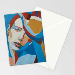 Face study / portrait Stationery Cards