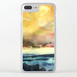 Yellow Sky Clear iPhone Case