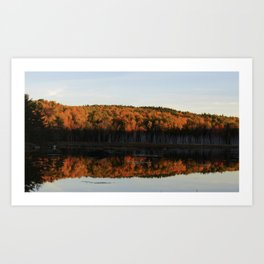 Autumn Sunset Reflection at the Moosehorn Art Print