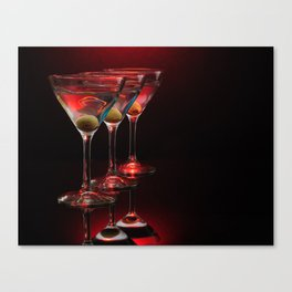Red hot martinis. Canvas Print