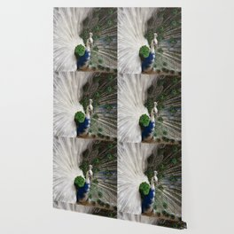 Blue Peacocks Wallpaper Society6