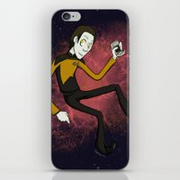 data iPhone & iPod Skins featuring Cartoon Data by Brody Bot