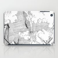 led zeppelin iPad Cases featuring Zeppelin Overhead by Mr.Willow