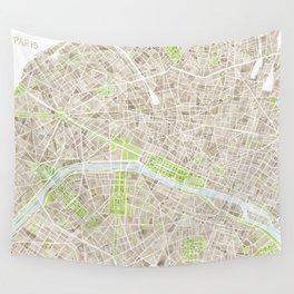 Paris SGB Watercolor Map Wall Tapestry