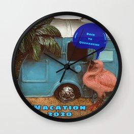 A quarentine Vacation 2020 Wall Clock