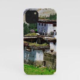 Picturesque Traditional Himalayan Village Houses, Himalaya iPhone Case
