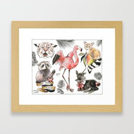 Palm Beasts Framed Art Print