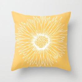 Minimalist Sunflower Throw Pillow