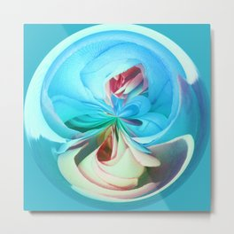 312 - Abstract Flower Orb Design Metal Print