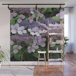 Hydrangea Violet Hues Wall Mural