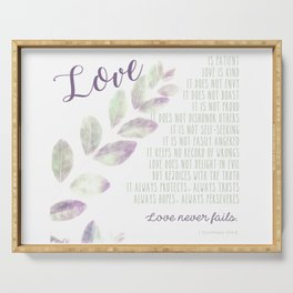 Love Never Fails Serving Tray