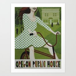 Oregon Public House Poster - 5 Art Print