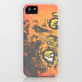 Cat Face Print Illustration, Cat Eyes Art Work iPhone Case