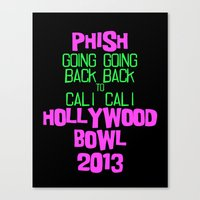 phish Canvas Prints featuring Going back to CALI by George Fetner