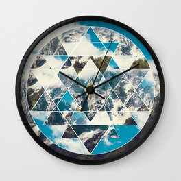 Shri Yantra in the Mountains Wall Clock